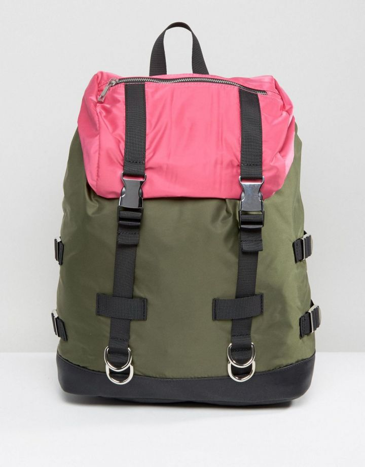 Product photo of ASOS Colourblock Hiker Backpack
