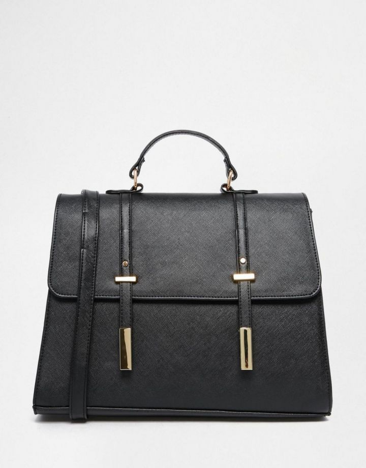 Product photo of ASOS Front Tab Satchel Bag