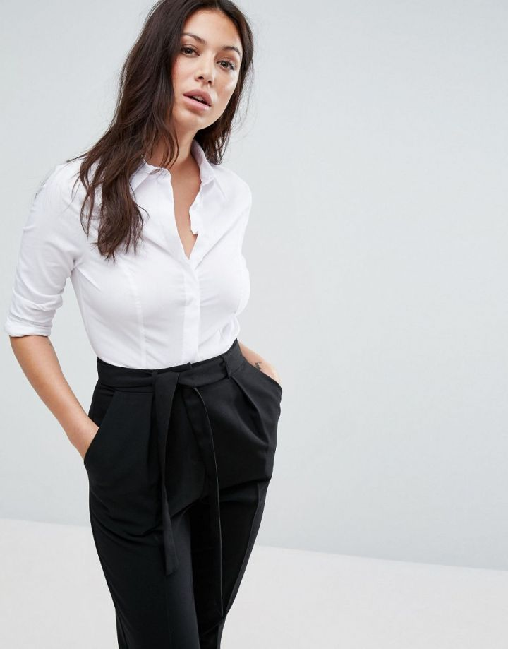 Product photo of ASOS Fuller Bust Shirt in Stretch Cotton