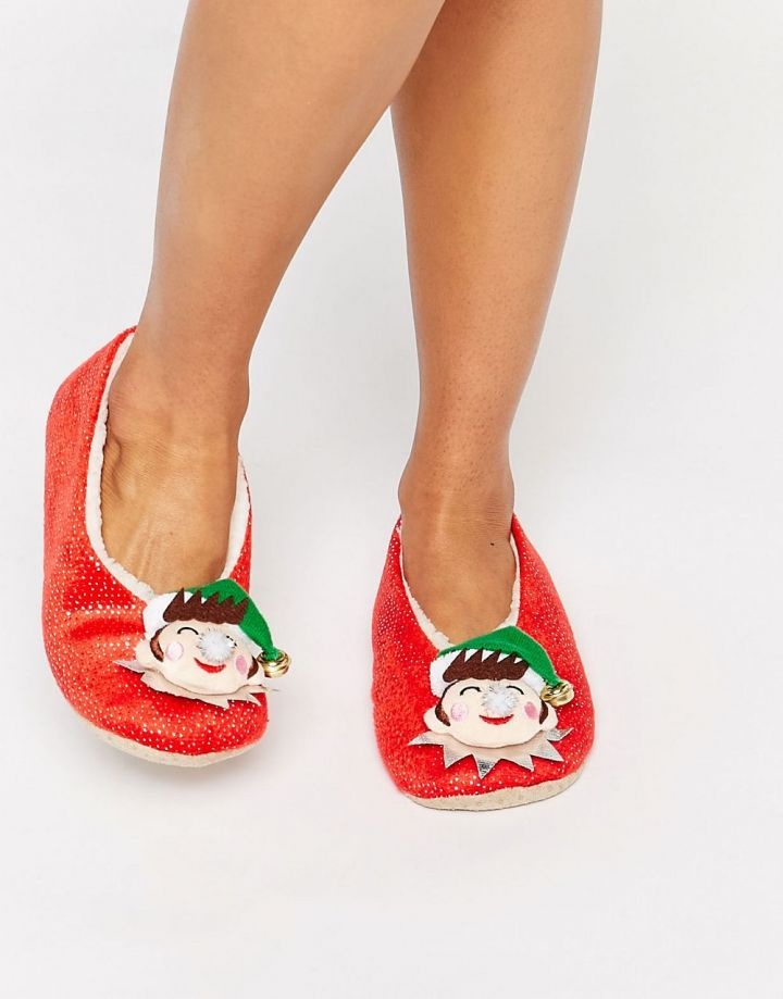 Product photo of ASOS NICHOLAS Christmas Elf Slippers