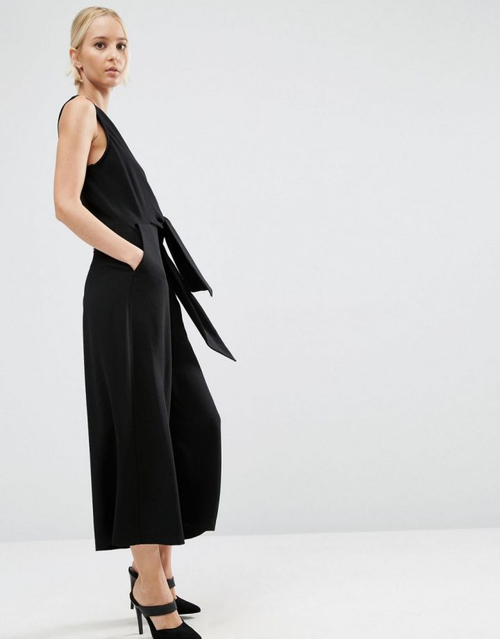 Product photo of ASOS Tie Side Jumpsuit