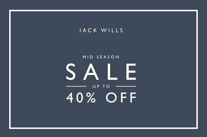 Jack Wills up to 40% off mid-season sale now on